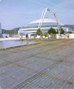 BVV stavba G pavilonů, betonáž.