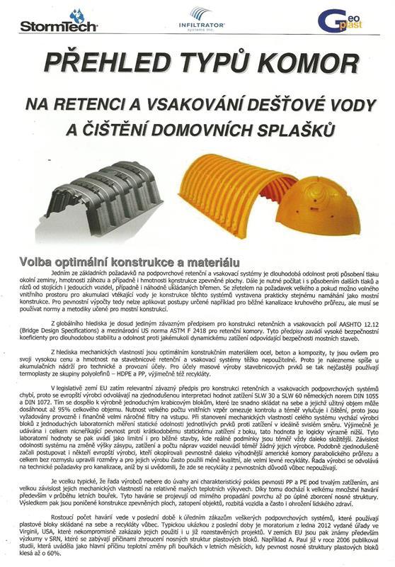 1.Volba optimální konstrukce a materiálů komor..