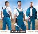 montérkové kalhoty laclové Vision modré