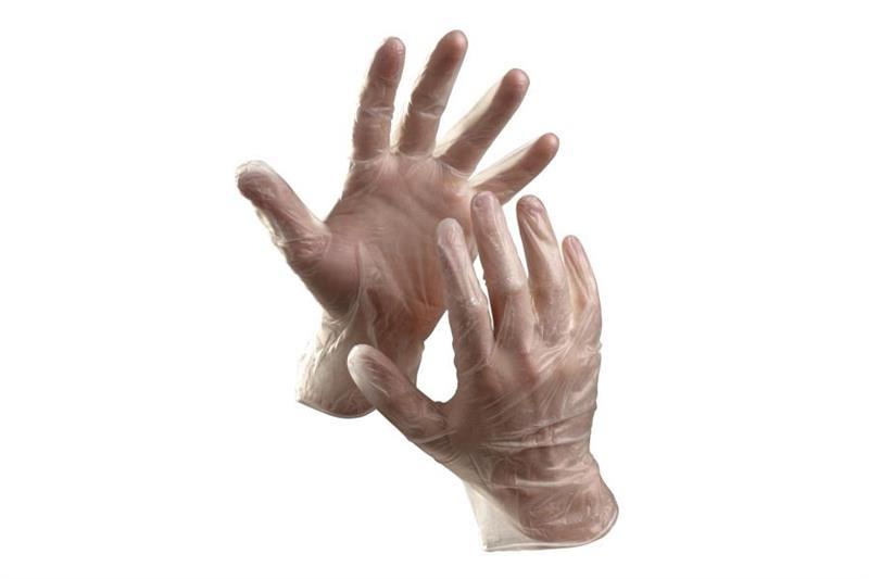 RAIL jednorázové vinylové rukavice, pudrované