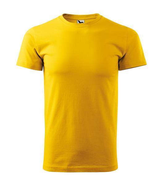 tričko barevné Basic 160gr, kulatý výstřih-žluté,