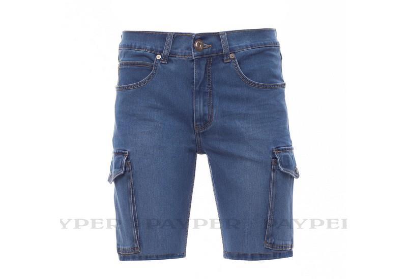 riflové šortky modré, s elastanem
