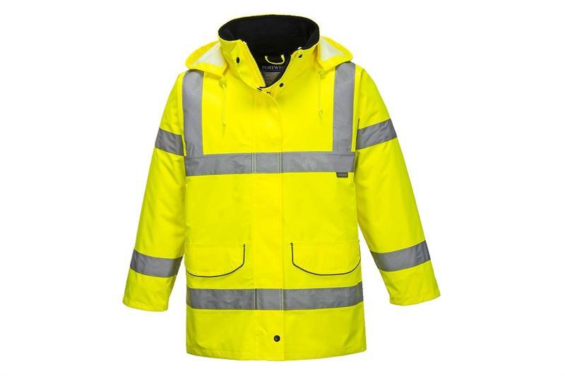 Výstražná dámská zateplená bunda s reflexními pruhyS360