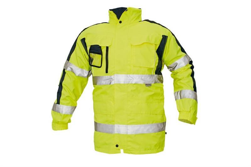 Výstražná zimní bunda s reflexními pruhy TRIPURA HV žlutá