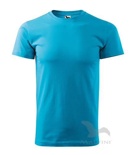 tričko barevné Adler Basic 160gr, kulatý výstřih - tyrkysová
