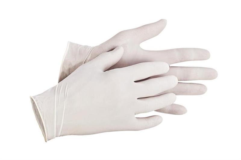 LOON jednorázové latexové rukavice, pudrované