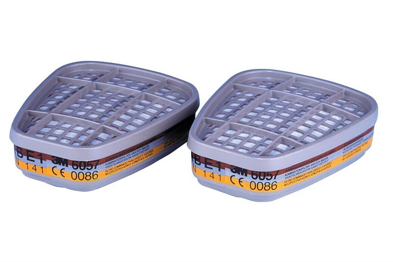 3M 6057 A2 Filtr proti organickým, anorganickým a kyselým plynům