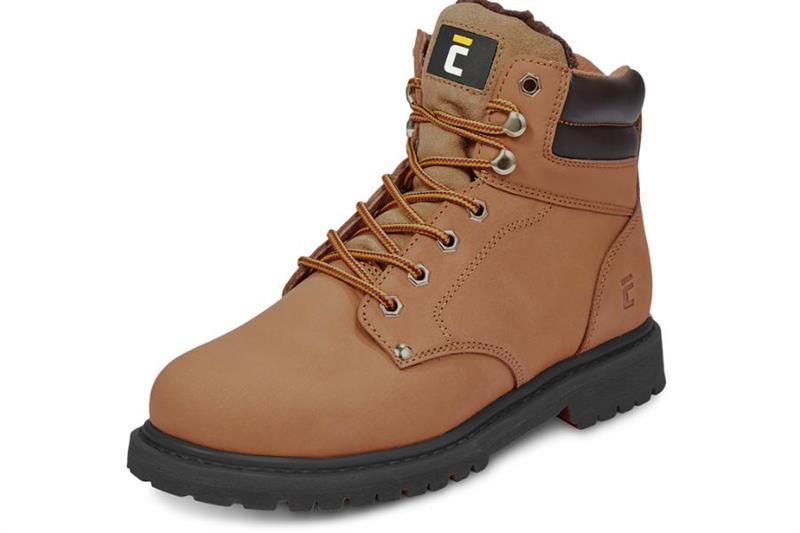 pracovní obuv-Farmářka zimní, barva hnědá,