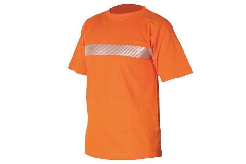 Triko XAVER kr.rukáv, oranžové, reflexní pruh