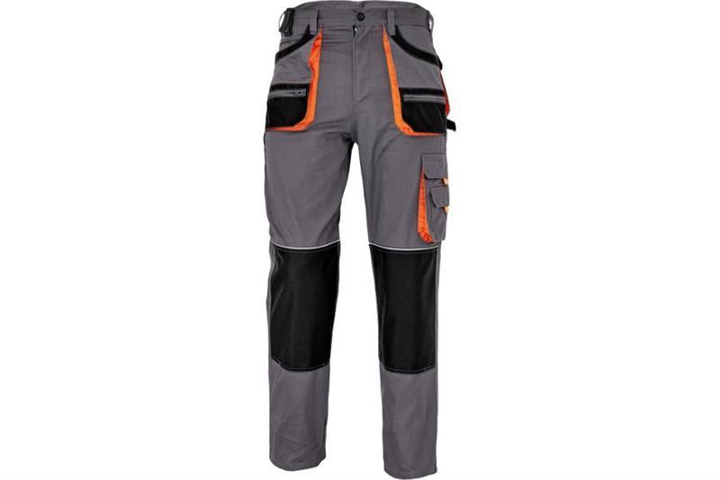F&F CARL montérkové kalhoty do pasu šedé