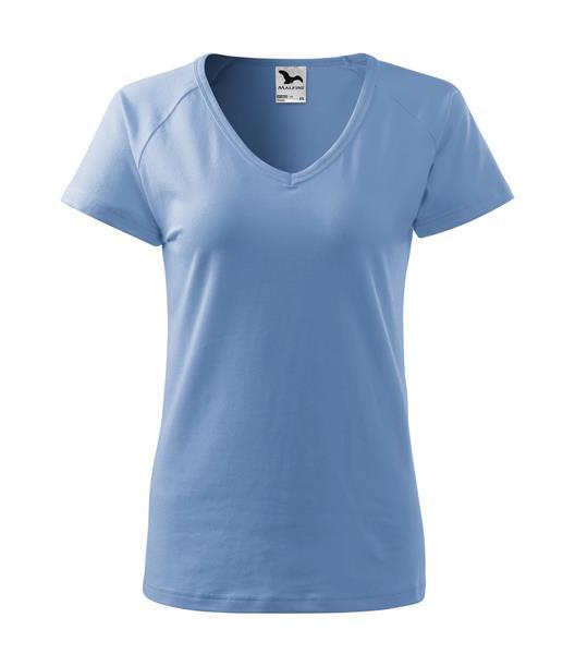 triko dámské, do V u krku, raglánový rukáv - nebesky modrá