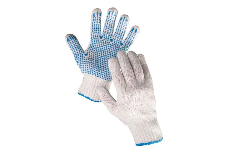 PLOVER bezešvé rukavice s PVC terčíky