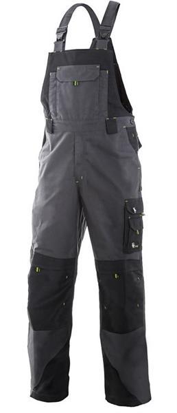 montérkové  kalhoty s laclem Sirius Tristan šedo/zelené