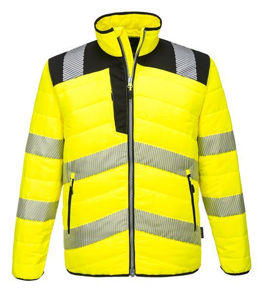 výstražná reflexní zimní bunda PW371 žlutá