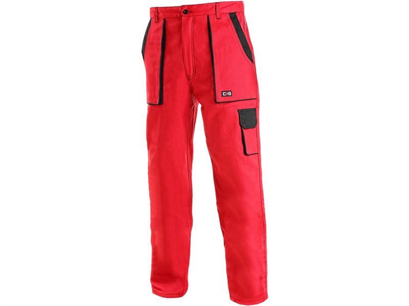 montérkové kalhoty Lux pasové červeno-černé-Canis
