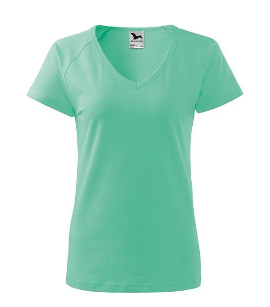 Kopie - triko dámské, do V u krku, raglánový rukáv -  mátová