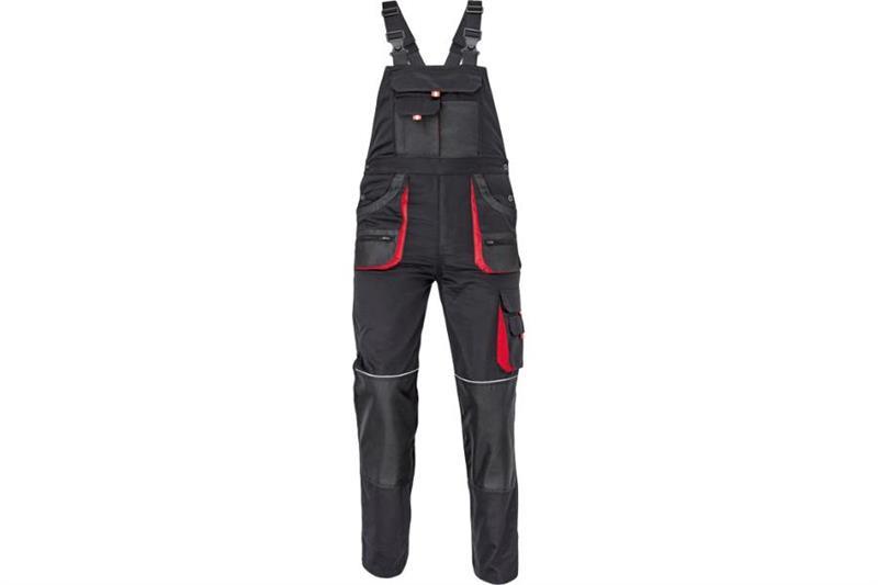 CERVA  F&F CARL montérkové kalhoty s laclem černé