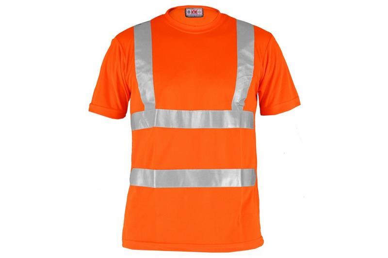 Triko Avenue  výstražné s reflexními pruhy oranžové