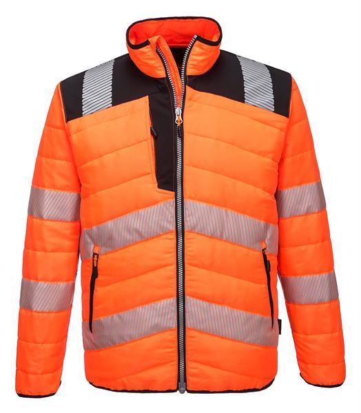 výstražná reflexní zimní bunda PW371 oranž