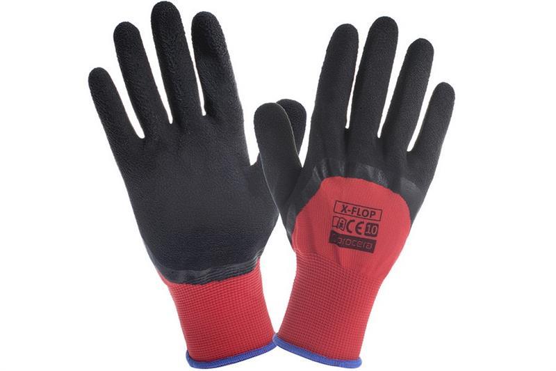 Flop pracovní rukavice polomáčené v PVC