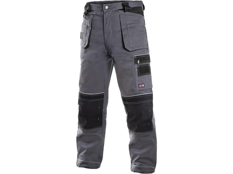 montérkové kalhoty pasové šedo/černé Teodor - Canis