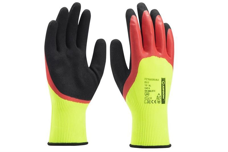 PETRAX DOUBLE pracovní rukavice 3/4 máčené v latexu