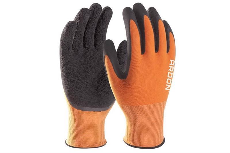 PETRAX pracovní rukavice polomáčené v latexu