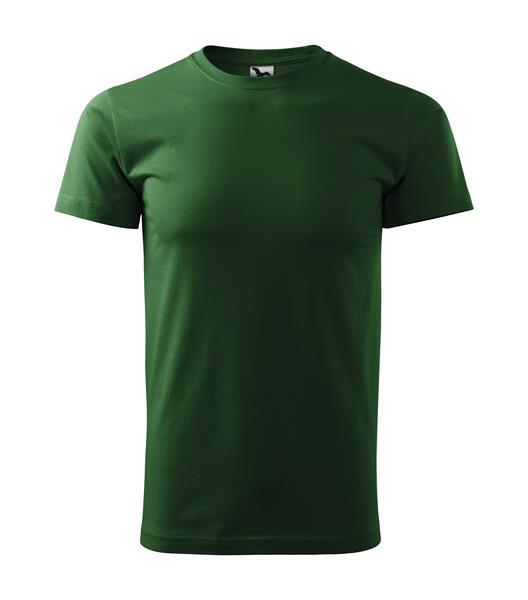 tričko barevné Basic 160gr, kulatý výstřih-lahvově zelená,