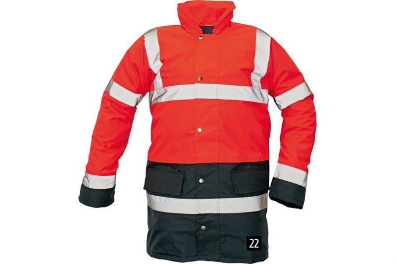 výstražná pracovní bunda Sefton-červená - nová barva