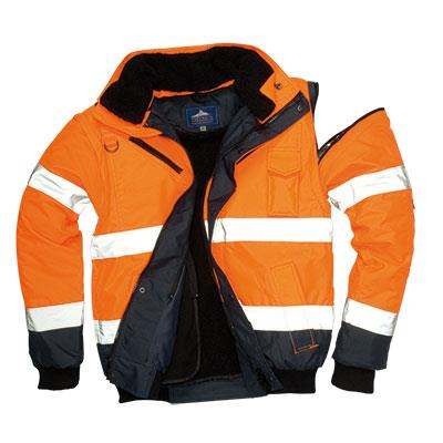 Reflexní víceúčelová bunda do pasu, odepínací rukávy,C466