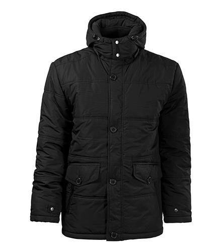 pánská černá zateplená bunda