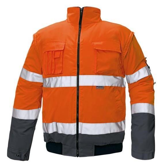 výstražná reflexní bunda Clovelly -odepínací rukávy-oranžová/modrá