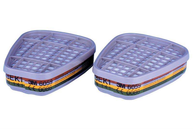 3M 6059 ABEK1 Filtr proti organickým, anorganickým, kyselým plynům a čpavku
