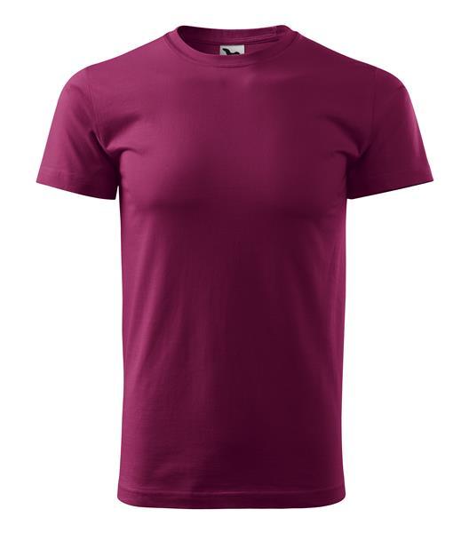tričko barevné Basic 160gr, kulatý výstřih - fuchsia red