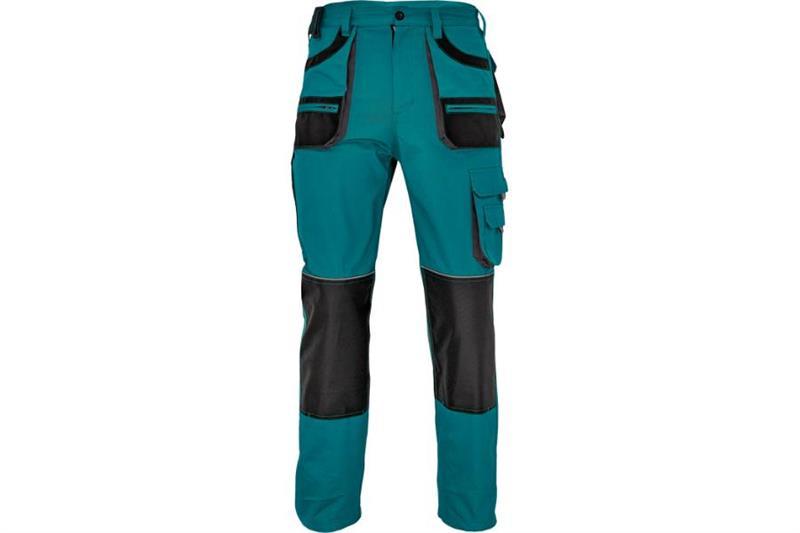 F&F CARL montérkové kalhoty do pasu zelené