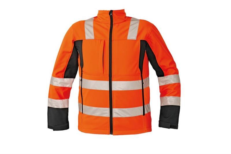 softshellová výstražná bunda Malton oranžová