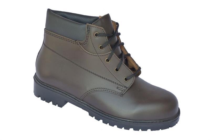 Farmářka KLASIK kotníková pracovní obuv - hnědá