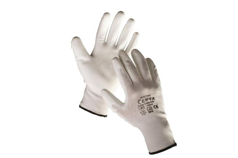 BUNTING pracovní rukavice nylonové, povrstvené polyuretanem