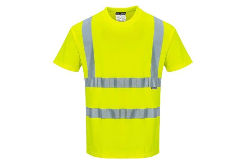 S170 Cotton comfort triko Hi-Vis žluté