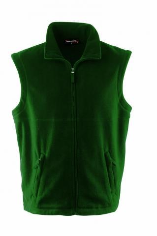 pánská vesta flecce lahvově zelená