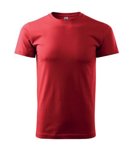 tričko barevné Adler Basic 160gr, kulatý výstřih-červené,