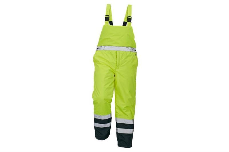 výstražné pracovní zateplené kalhoty Padstow žluté