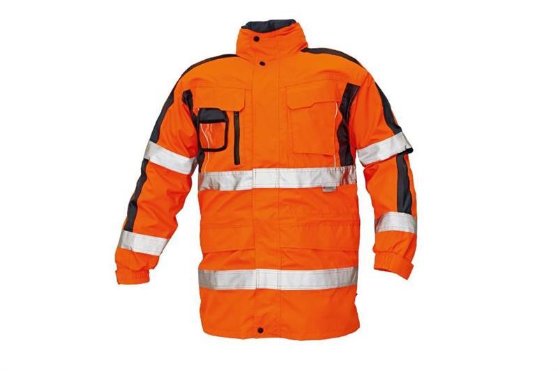 TRIPURA HV oranžová reflexní zimní bunda