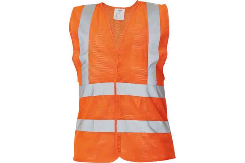 Výstražná vesta oranžová děrovaná QUOLL