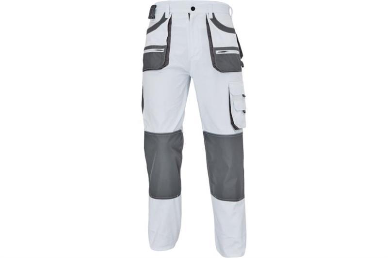 F&F CARL montérkové kalhoty do pasu bílé