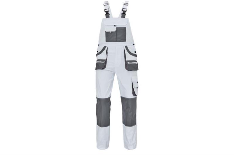 CERVA  F&F CARL montérkové kalhoty s laclem bílé