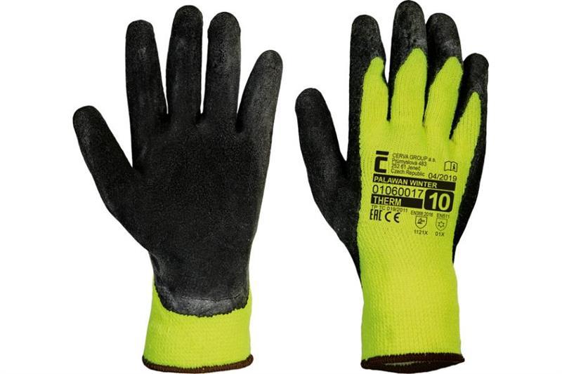 PALAWAN WINTER zimní pracovní rukavice polomáčené v latexu