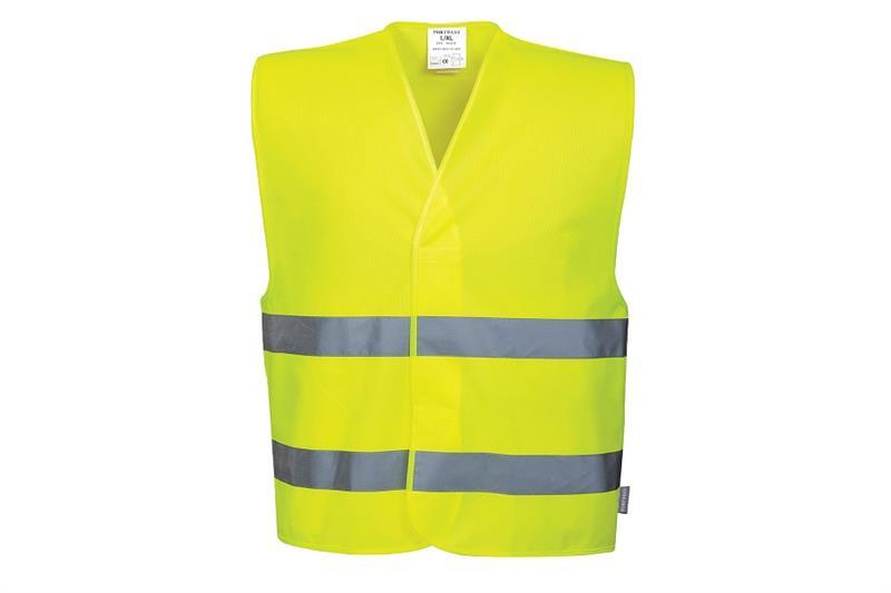 C474  Reflexní vesta s dvěma pruhy žlutá
