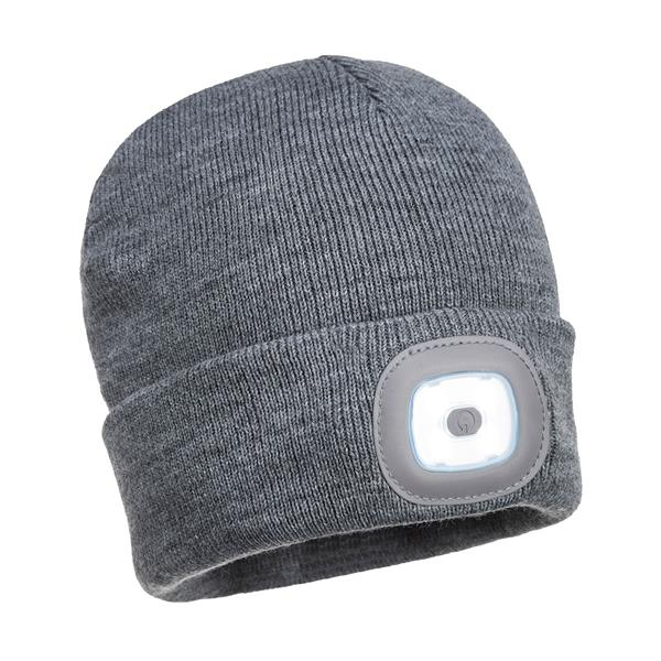 B028 - Nabíjecí Twin LED  pletená čepice