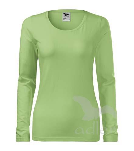 triko dámské, dlouhý rukáv, 180gr trávově zelená